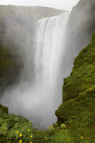 Iceland. South area. Skogafoss waterfall. poster