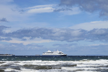 Cruise ship in patagonia. South America