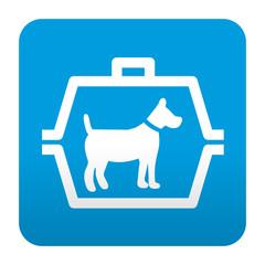 Etiqueta tipo app azul simbolo trasportin