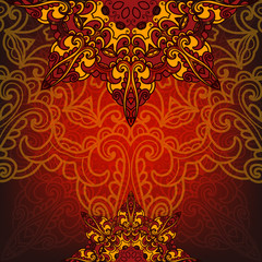Exotic luxury card with pattern