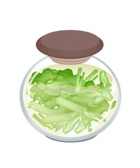 A Jar of Delicious Pickled Pok Choi