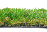 artificial astroturf grass  samples isolated on white poster