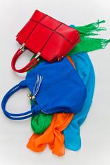 модные сумки и шарфы