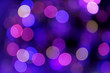 Festive blue and purple background with boke