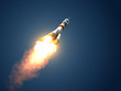 "Leinwanddruck Bild - Carrier Rocket ""Soyuz-FG"" Takes Off"