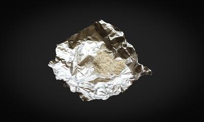 Kokain auf Alufolie