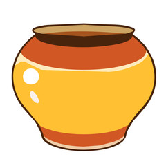 Clay pot isolated illustration