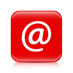Red email button, icon