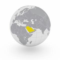 Mappamondo Asia Arabia Saudita