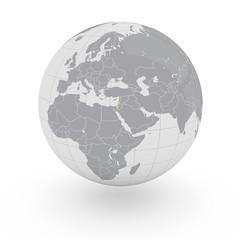 Mappamondo Asia Israele
