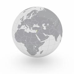 Mappamondo Asia Libano