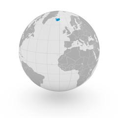Mappamondo Europa Islanda