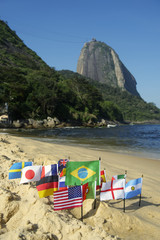 International Flags Rio de Janeiro Beach