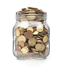 Münzen im Weckglas
