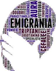 Tag cloud sul concetto di emicrania
