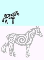 Horse ornate
