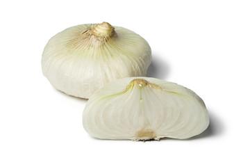 White flat sweet onions