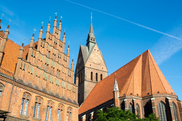 Old town hall and Marktkirche, Hannover, Germany