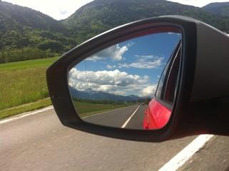 Landschaft Im Rückspiegel