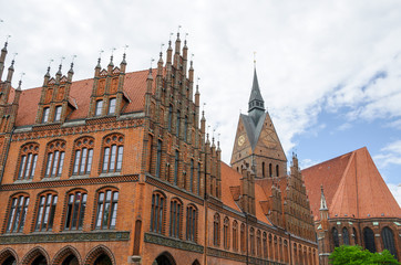 Old town hall and Marktkirche, Hannover, Lower Saxony, Germany