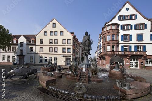 Leinwandbild Motiv Kaiserbrunnen Kaiserslautern Panorama