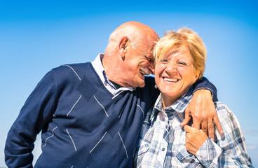 Senior couple in love during retirement - Happy elderly concept