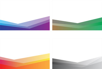 4 colorful abstract background