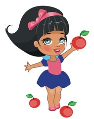Белоснежка с яблоками