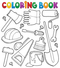 Coloring book tools theme 1