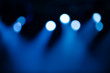 Defocused stage illumination