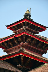 Roof of Hanuman Dhoka Royal Palace at Kathmandu Durbar Square
