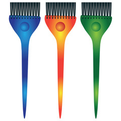 Set dye brush