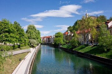 Ljubljanica river and promenade