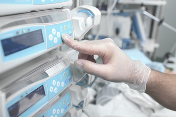 Using equipment in hospital