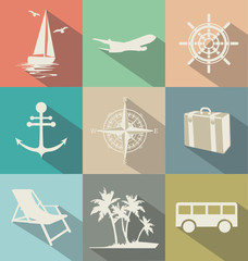 Travel flat retro design