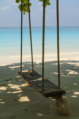 Swing on the beach at tachai island