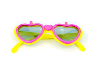 plastic glasses heart