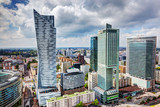 Warsaw, Poland. Downtown business skyscrapers, city center - Fine Art prints