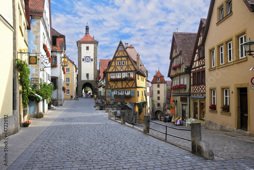 canvas print picture Rothenburg ob der Tauber, Germany