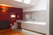 Interior of designed bathroom