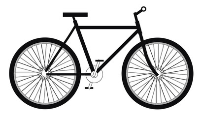 Bicycle side view