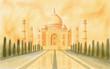 Quadro Taj Mahal India