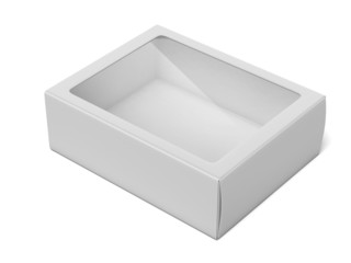 Blank Box with Transparent Window