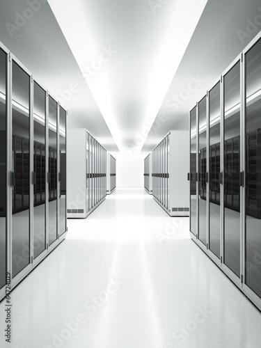 White interior of Data Center - 64724079
