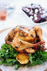 Whole free range chicken as sunday roast