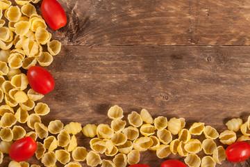 Raw pasta.