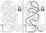 Knight and princess maze
