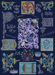 Old initials set