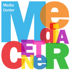 """MEDIA CENTER"" Letter Collage (news social media website links)"