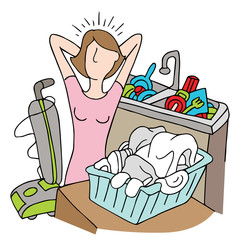 Too Many Chores Woman